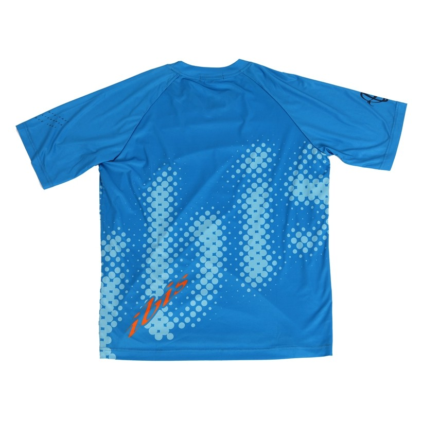 Jersey Dot Print - Blue & Orange