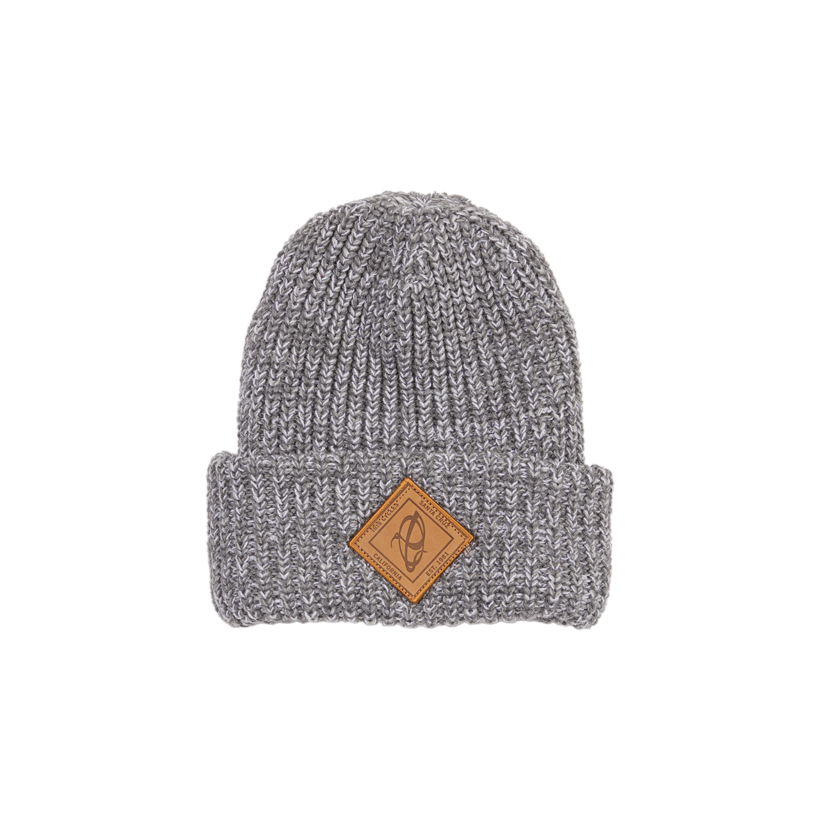 Beanie - Chunky Knit with leather patch