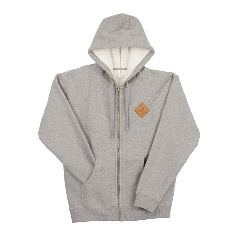 Zip Hoodie - Ibis Leather Patch