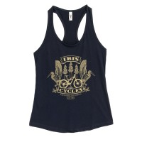 Tee - Women's Tank Top - Ibis Redwoods Crest  - Dark Navy with Gold image 1